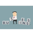 Businessman building a new business vector image