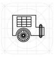caravan trailer home icon filled flat sign vector image vector image