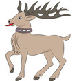 cartoon deer on white background vector image vector image