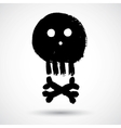 Cartoon doodle pirate skull vector image