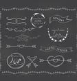 chalkboard wedding vintage set vector image vector image