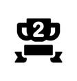 champion trophy icon vector image vector image