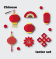 chinese lanter set vector image vector image