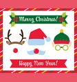 christmas photo booth collection vector image vector image