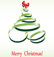 christmas ribbon tree vector image
