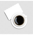cup with coffee and plate transparent background vector image vector image