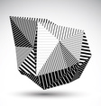 Decorative distorted eps8 element with parallel vector image vector image
