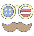 disguise glasses united state independence day vector image vector image