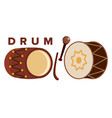 drum set stick classic loud percussion vector image