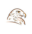 eagle head outline vector image