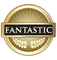 fantastic gold label vector image