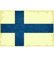 Finnish flag vector image vector image