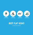 flat icon cripple set of equipment wheelchair vector image vector image