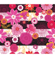 Floral Pink Stripe vector image