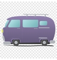 Funny cartoon van vector image vector image