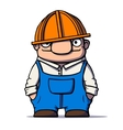 Funny cartoon worker builder plumber vector image vector image