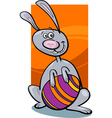 funny easter bunny cartoon vector image vector image