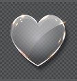 glass heart symbol realistic vector image vector image