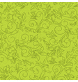 green seamless floral pattern vector image