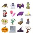 Halloween cartoon icons vector image vector image