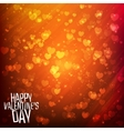 Happy Valentines day background with shining vector image