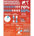 INFOGRAPHIC DEMOGRAPHIC MODERN STYLE 8 vector image vector image