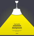 lamp with light and shadows vector image vector image