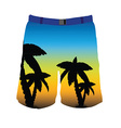 Man shorts vector image
