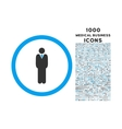 Manager Rounded Icon with 1000 Bonus Icons vector image vector image