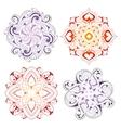 Mandala shape ornaments vector image vector image