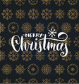 merry christmas lettering design on vector image vector image