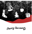 Merry Christmas postcard Christmas gifts and ball vector image vector image