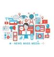 Modern Flat thin Line design News Mass Media vector image