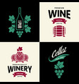 Modern wine isolated logo collection for tavern