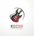 music shop logo design concept