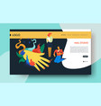 nail studio web page template manicure online vector image vector image