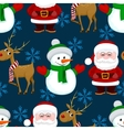 New Year Christmas seamless pattern vector image vector image