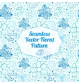 Ornate seamless pattern vector image