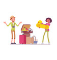 packing luggage for travel vector image