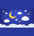 paper art night sky origami dream landscape scene vector image vector image