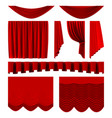 red stage curtains realistic theater stage vector image vector image
