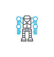 Robotics linear icon concept robotics line