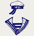 Sailor clothing vector image vector image