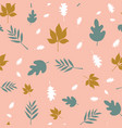 scattered fall leaves seamless background vector image
