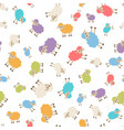seamless pattern with colorful sheep vector image