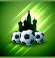 soccer russia tournament shiny flyer background vector image