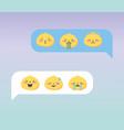 social media chat emoji expresions facial cartoon vector image