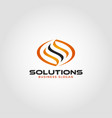 solution is an energy logo with letter s concept vector image vector image