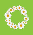 spring round frame with blooming chamomile vector image vector image
