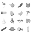 Sri Lanka travel icons set monochrome style vector image vector image